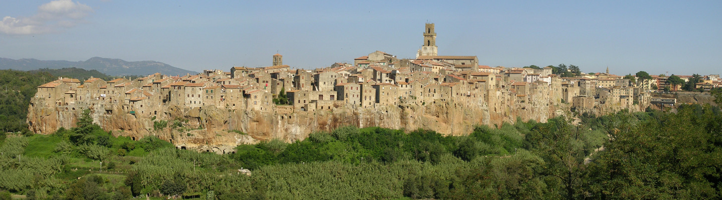 Pitigliano, Tuscan village on tufa rock