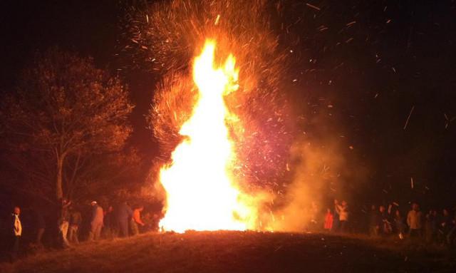 Fire ritual in Maremma Tuscany
