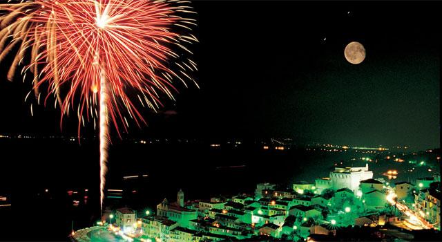 Porto Santo Stefano fireworks, Maremma Tuscany