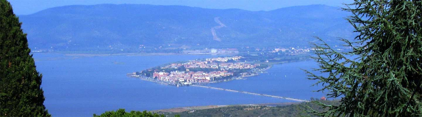 Orbetello, aerial view. Image by Mac9