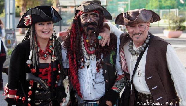 Pirates in Porto Ercole, Tuscany