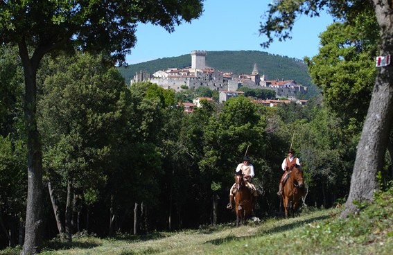 Butteri cowboys ride near Capalbio comune.capalbio.gr.it